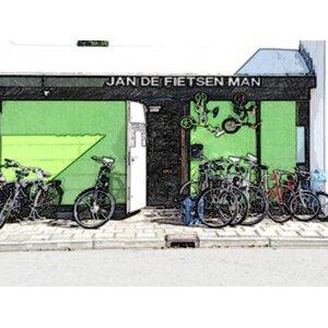 Jan de Fietsenman logo