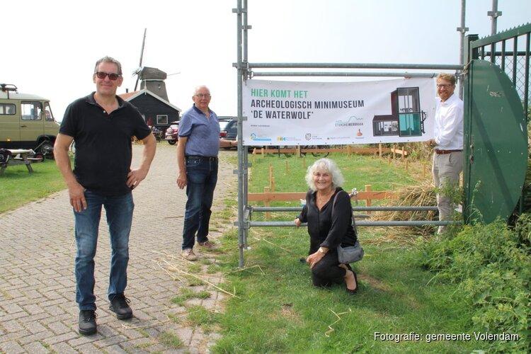 Bouw gestart van Archeologisch minimuseum De Waterwolf in Etersheim
