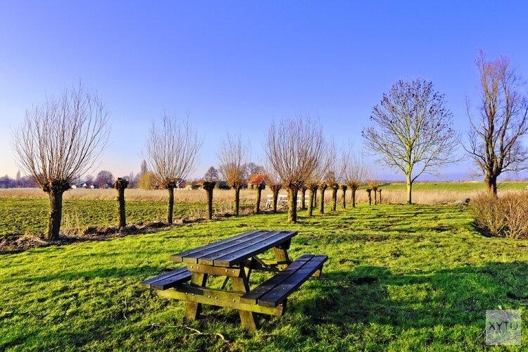 Picknickbankjes in Edam, ga met elkaar in gesprek.