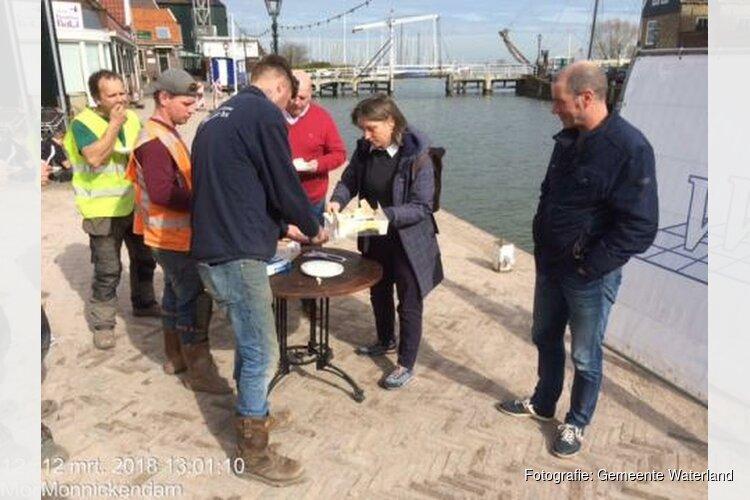Werkzaamheden kademuur Haven Monnickendam afgerond