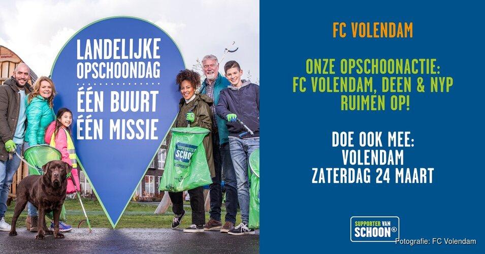 FC Volendam, DEEN Supermarkten & New York Pizza Volendam ruimen op!