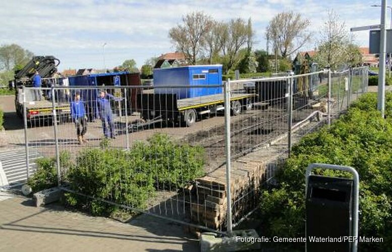 Bouw pin- en toiletgebouw parkeerterrein Marken van start