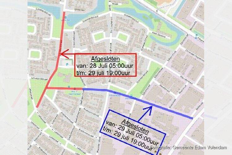 Afsluiting vanwege asfalteren Schoklandstraat en Mgr. C. Veermanlaan