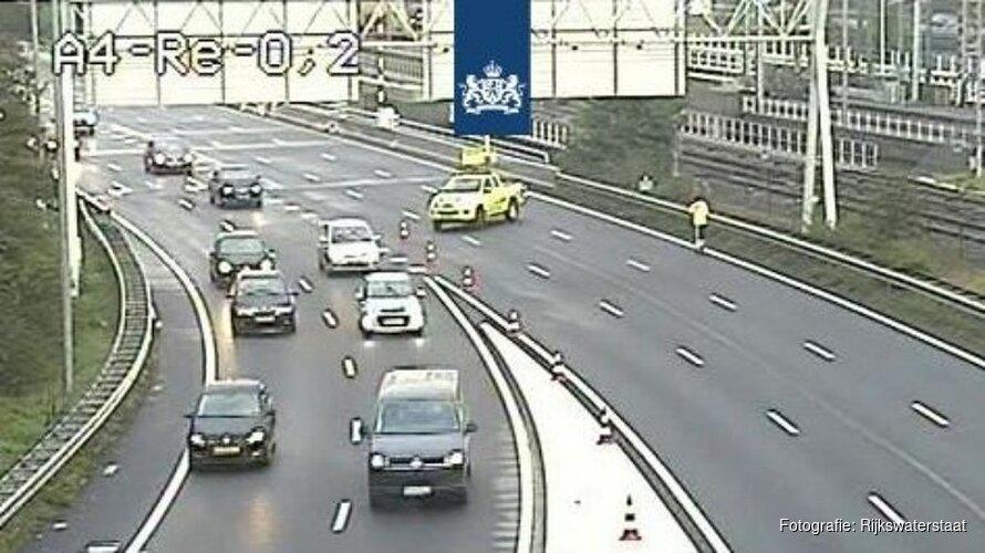 Verbindingsweg A10 richting A4 dicht na ernstig ongeluk