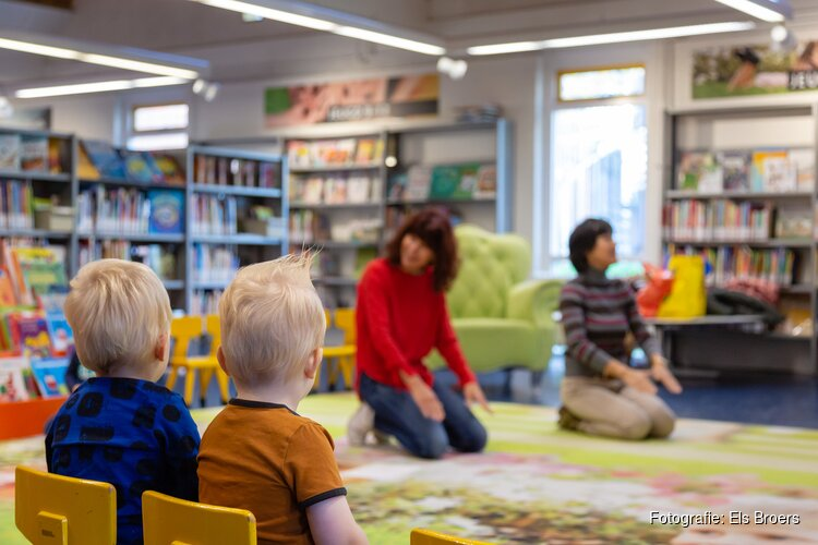 Peuterparty in de Bibliotheek Volendam