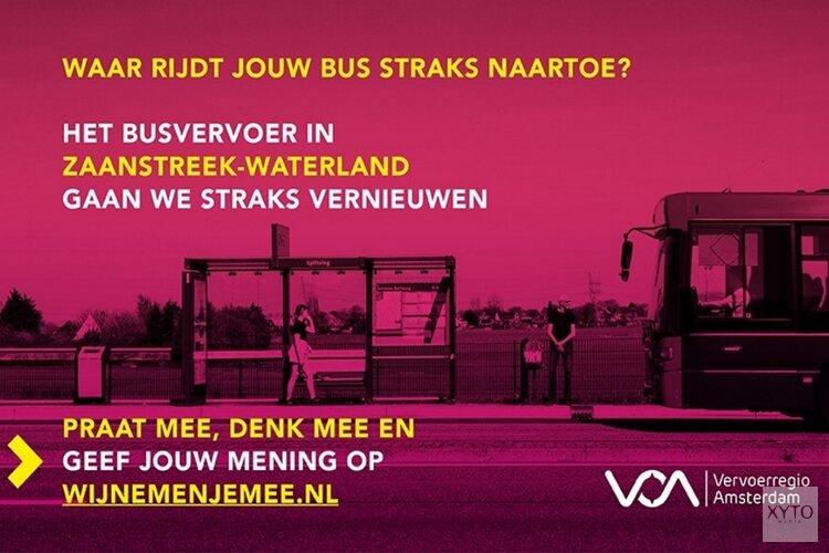 Vervoerregio start reizigersenquête over het toekomstige OV in Zaanstreek-Waterland