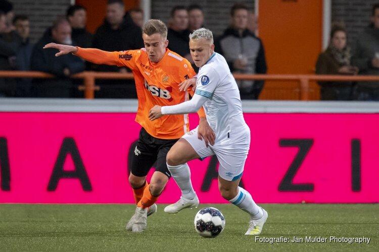FC Volendam raakt paal en lat, Jong PSV treft doel