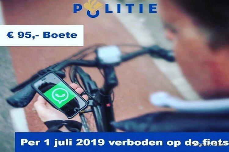 Het is bijna zover: Appen ook op de fiets verboden