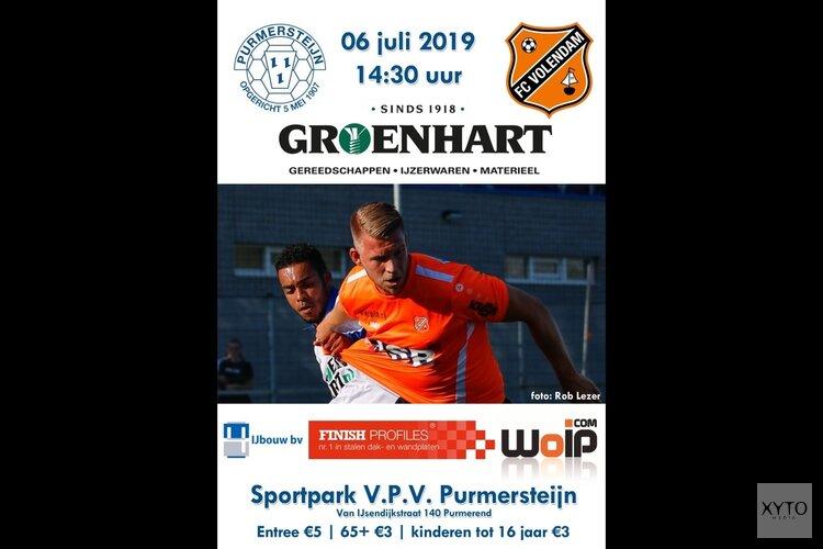 Purmersteijn ontvangt op 6 juli FC Volendam
