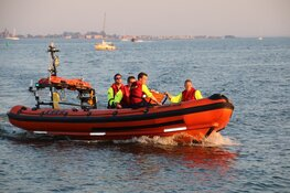 Brand op boot aan Zuideinde
