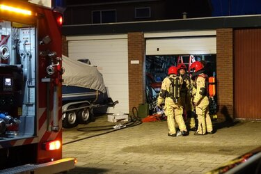 Brand in garagebox Edam